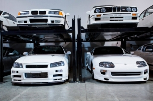 Paul Walker's 1995 Toyota Supra & Nissan Skyline R34, AE Performance, Santa Clarita, California