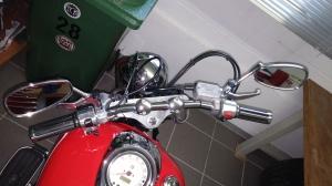 Handle bar, 2000 Yamaha XVS 1100 Drag Star Classic Bobber conversion