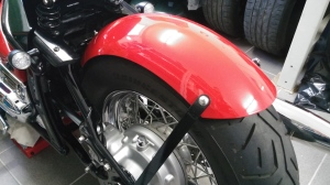 Rear fender, 2000 Yamaha XVS 1100 Drag Star Classic Bobber conversion