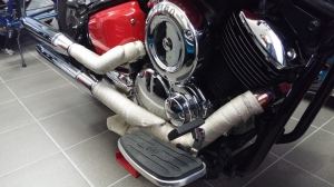 Exhaust pipes, 2000 Yamaha XVS 1100 Drag Star Classic Bobber conversion