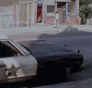"Twisted radio antenna, 1974 Dodge Monaco Sedan ""Bluesmobile"""