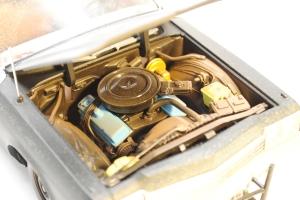 """Engine bay, 1974 Dodge Monaco Sedan """"Bluesmobile"""""""