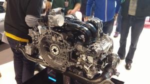 Porsche 2.5l 718 Boxster S engine, Geneva International Motor Show