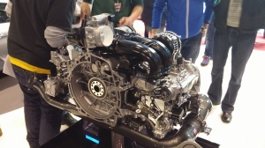 Porsche 2.5l 718 Boxster S engine, Geneva International Motor Show